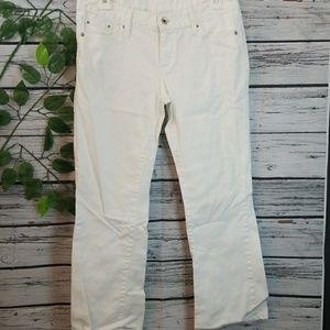 Levis 553 Mid Rise Boot White Denim Jeanssz 4 S